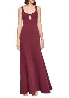 BCBG Max Azria BCBGMAXAZRIA Sleeveless Keyhole Cutout Gown