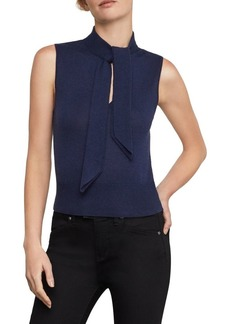 BCBG Max Azria BCBGMAXAZRIA Sleeveless Knit Cutout Top
