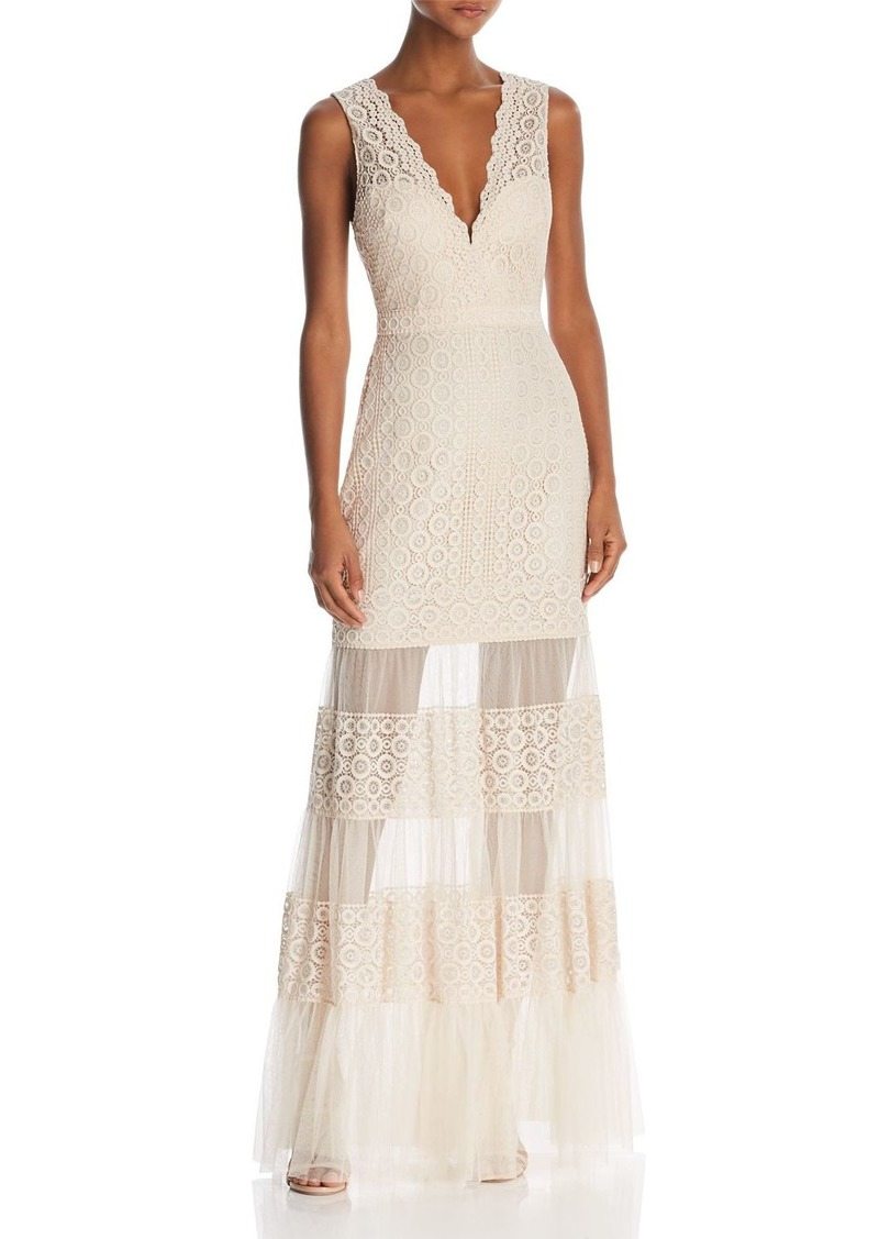 bb1ce633e2bd BCBG Max Azria BCBGMAXAZRIA Sleeveless Lace Sheer-Hem Gown | Dresses