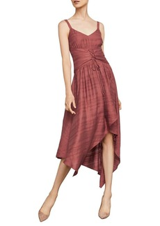 BCBG Max Azria BCBGMAXAZRIA Sleeveless Lace-Up Asymmetrical Dress