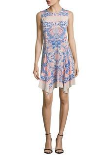 BCBGMAXAZRIA Sleeveless Printed Dress