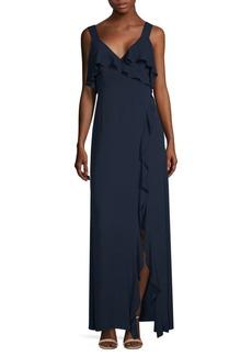 BCBG Max Azria Long Ruffle Dress