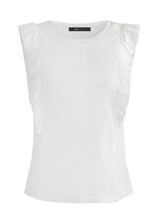 BCBG Max Azria BCBGMAXAZRIA Sleeveless Ruffled Top