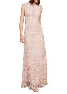 BCBG Max Azria BCBGMAXAZRIA Sleeveless Scrolling Lace Gown