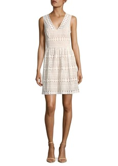 BCBGMAXAZRIA Sleeveless V-Neck Dress