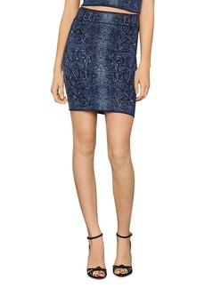 BCBG Max Azria BCBGMAXAZRIA Snakeskin Print Bodycon Mini Skirt