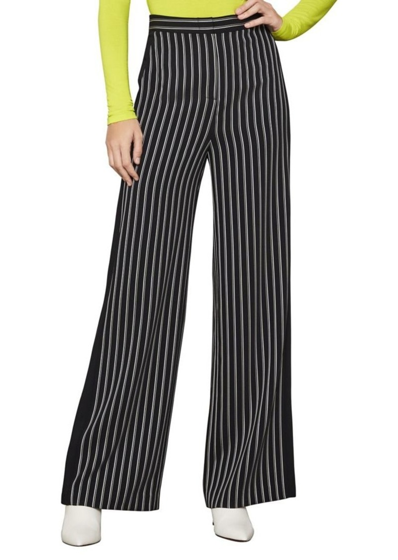 BCBGMAXAZRIA Soft Striped Wide-Leg Trousers