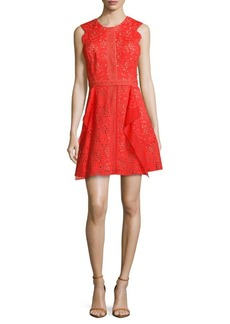 BCBGMAXAZRIA Solid Cotton-Blend Dress