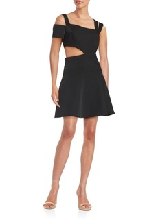 BCBGMAXAZRIA Solid Cutout Dress