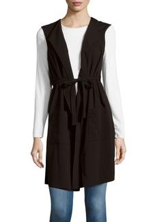BCBG Max Azria Solid Foldover-Collar Vest