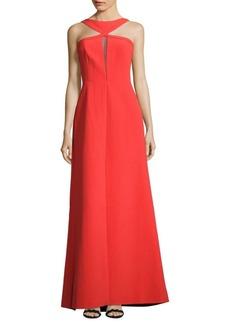 BCBGMAXAZRIA Solid Grecian-Neck Gown