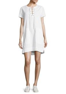 BCBG Max Azria BCBGMAXAZRIA Solid Lace-Up Dress
