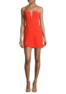 BCBGMAXAZRIA Solid Strappy Dress