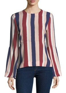 BCBG Max Azria BCBGMAXAZRIA Sportswear Striped Long-Sleeve Woven Top