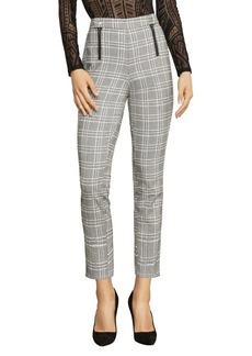 BCBG Max Azria BCBGMAXAZRIA Straight-Leg Houndstooth Plaid Trousers