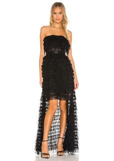 BCBG Max Azria BCBGMAXAZRIA Strapless High-Low Gown