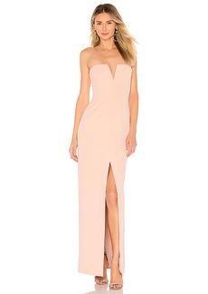 BCBG Max Azria BCBGMAXAZRIA Strapless High Slit Gown