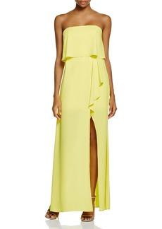 BCBGMAXAZRIA Strapless Ruffle Gown - 100% Exclusive