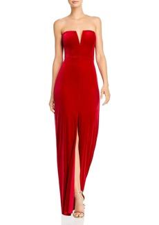 BCBG Max Azria BCBGMAXAZRIA Strapless Velvet Gown