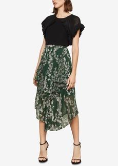 BCBG Max Azria Bcbgmaxazria Stream of Bloom Asymmetrical Skirt