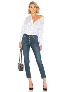 BCBG Max Azria BCBGMAXAZRIA Stripe Button Up Blouse