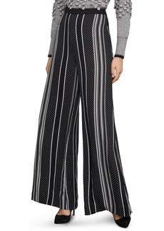 BCBG Max Azria Bcbgmaxazria Striped & Dot-Print Wide-Leg Pants