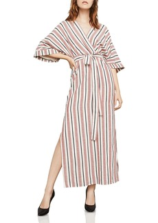 BCBG Max Azria BCBGMAXAZRIA Striped Crossover Maxi Dress