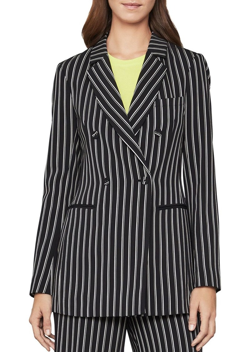 BCBGMAXAZRIA Striped Double-Breasted Blazer