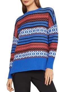 BCBG Max Azria BCBGMAXAZRIA Striped High/Low Sweater