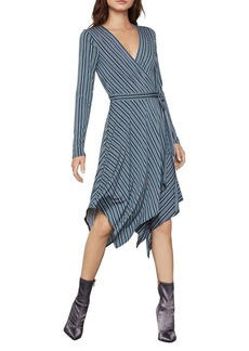 BCBG Max Azria BCBGMAXAZRIA Striped Knit Wrap Dress