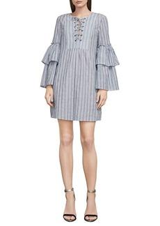 BCBG Max Azria BCBGMAXAZRIA Striped Lace-Up Dress