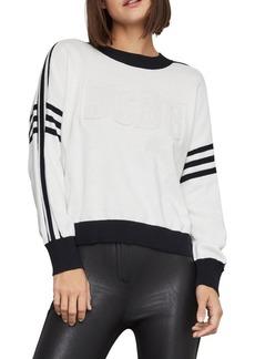 BCBG Max Azria BCBGMAXAZRIA Striped Logo Cotton Sweater