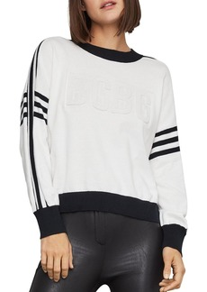 BCBG Max Azria BCBGMAXAZRIA Striped Logo Sweater