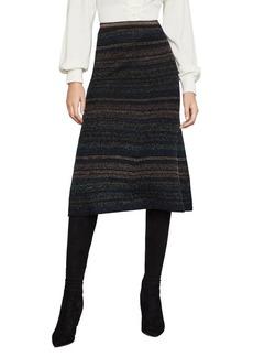 BCBG Max Azria BCBGMAXAZRIA Striped Metallic A-Line Skirt