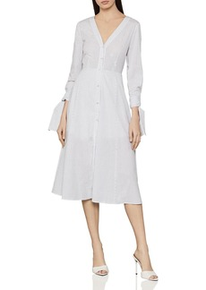BCBG Max Azria BCBGMAXAZRIA Striped Midi Shirt Dress