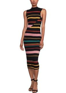 BCBG Max Azria Bcbgmaxazria Striped Midi Sweater Dress