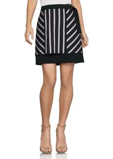BCBG Max Azria BCBGMAXAZRIA Striped Mixed-Media Mini Skirt