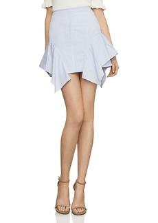 BCBG Max Azria BCBGMAXAZRIA Striped Ruffled Mini Skirt