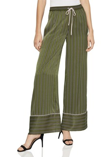 BCBG Max Azria BCBGMAXAZRIA Striped Satin Wide-Leg Pants