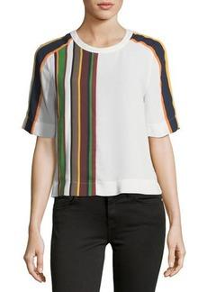 BCBG Max Azria BCBGMAXAZRIA Striped Sportswear Boxy Top