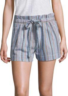 BCBG Max Azria BCBGMAXAZRIA Striped Tie-Accented Shorts