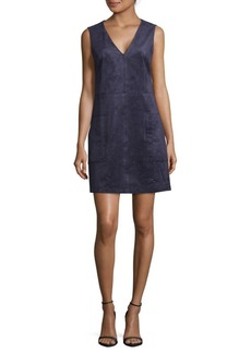 BCBGMAXAZRIA Suede Shift Dress