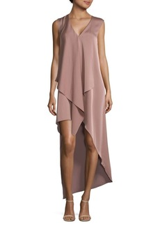 BCBG Max Azria Tara Draped Hi-Lo Dress