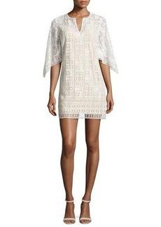 BCBGMAXAZRIA Tati Geometric Lace Mini Dress