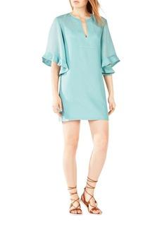 BCBGMAXAZRIA Tati Ruffle-Sleeve Dress