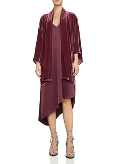 BCBGMAXAZRIA Tempest High/Low Velvet Jacket