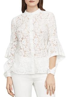 BCBG Max Azria BCBGMAXAZRIA Thelma Cutout-Sleeve Lace Shirt