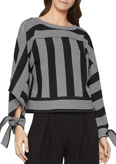 BCBG Max Azria BCBGMAXAZRIA Tie-Sleeve Striped Top