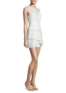 BCBGMAXAZRIA Tiered Lace Dress