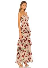 BCBG Max Azria BCBGMAXAZRIA Tiered Rose Print Gown